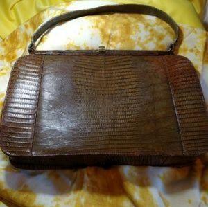Handbags - Palizzio Vintage Brown Lizard Skin Purse